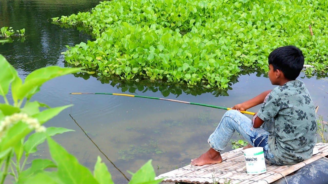 Hook Fishing | Traditional Hook Fishing in Beautiful Natural River (Part-64)