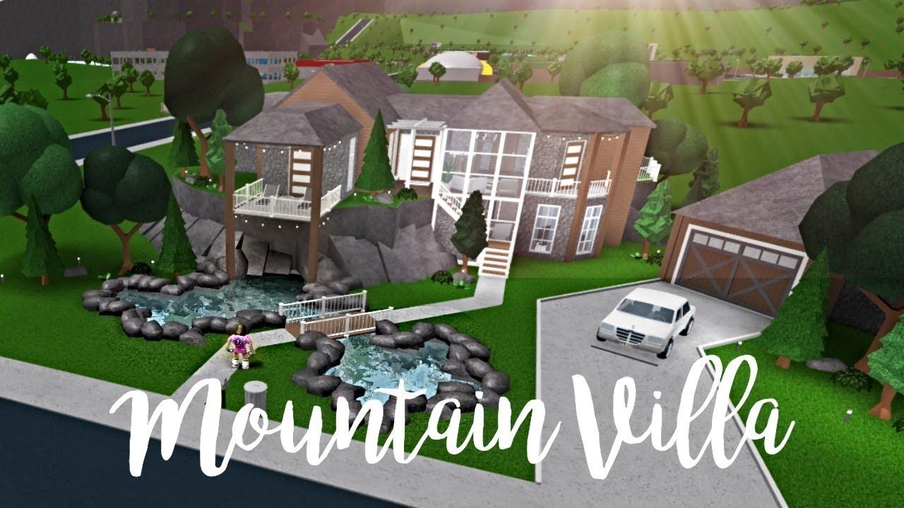 Bloxburg Mountain Villa 152k Youtube