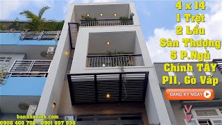 Nhà đẹp giá rẻ Sài Gòn - mặt tiền kiểu hiện đại 2020, xây mới 3 lầu, Giá chỉ 5ty8 tặng hết nội thất.