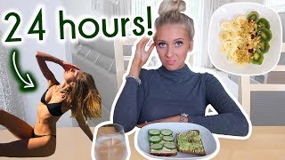 I FOLLOWED A MODEL'S 'what I eat in a day' VIDEO!!