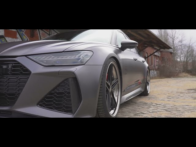 Audi RS6 C8 mit Schmidt Revolution FS Line 10,5Jx22H2 mit 285/30R22  KW V4 FMS Downpipe/Abgasanlage