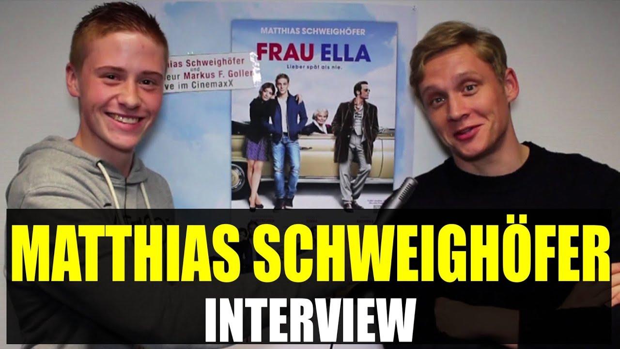 MATTHIAS SCHWEIGHÖFER Interview: Penismütze, Frau Ella, Kinotour, Action, Andy Circus