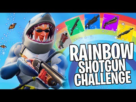 RAINBOW SHOTGUN CHALLENGE in Fortnite!!