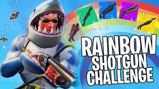 RAINBOW SHOTGUN CHALLENGE in Fortnite!!