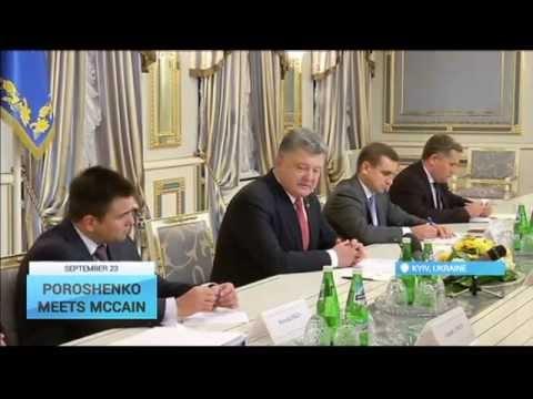 Poroshenko Meets McCain: Ukrainian president, US senator discuss Donbas conflict
