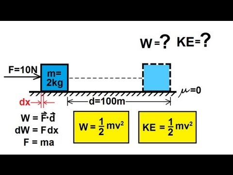 Physics - Mechanics: Work, Energy, and Power (5 of 20) Pushing an Object (Frictionless)
