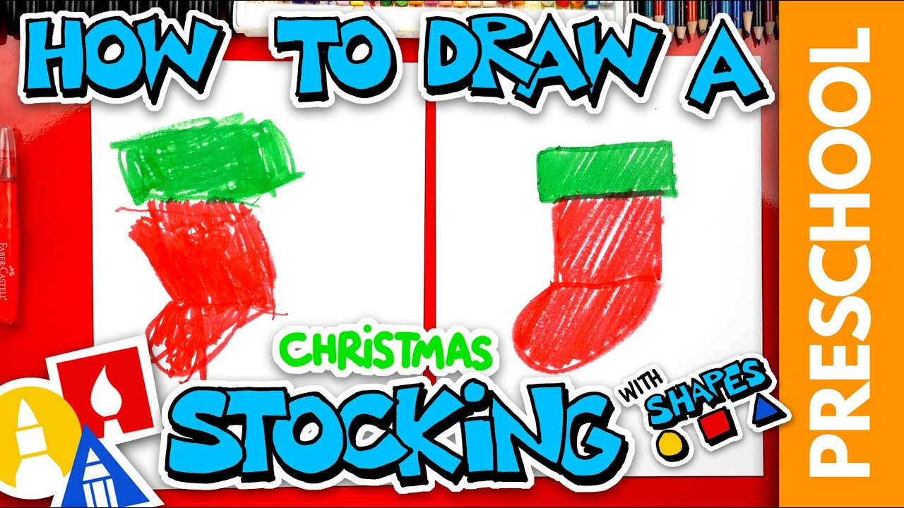 Drawing A Christmas Stocking With Shapes - Preschool