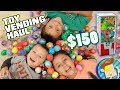 Emptying a Vending Machine w  $150 to Spend! Toy Haul + Donations FUNnel Vision Vlog