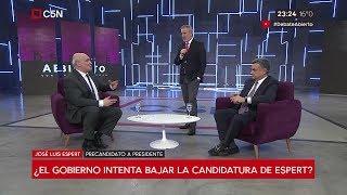 """José Luis Espert con Luis Rosales en """"Debate abierto"""" de Duggan por """"C5N"""" el 21 de junio de 2019"""