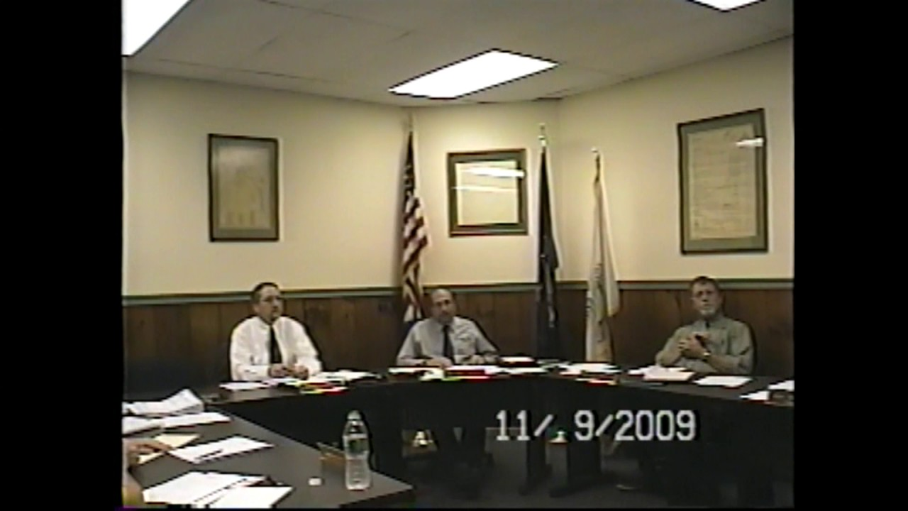 Champlain Village Board Meeting  11-9-09