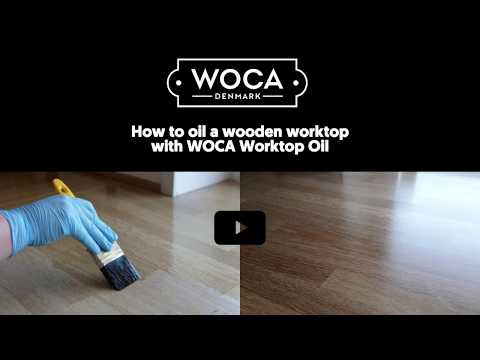 How to oil a wooden worktop with WOCA Worktop Oil