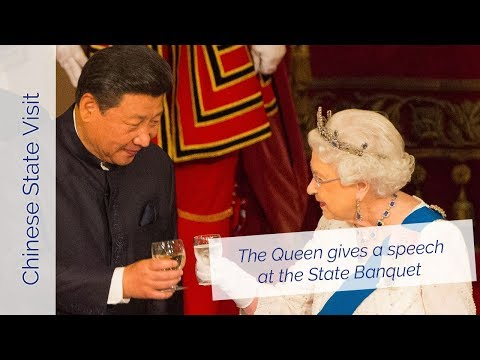 The Queen's speech at the China State Banquet