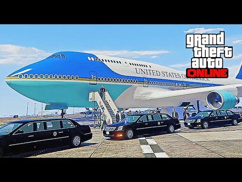 GTA 5 LSPDFR Online - President Escort To Air Force One (Donald Trump)