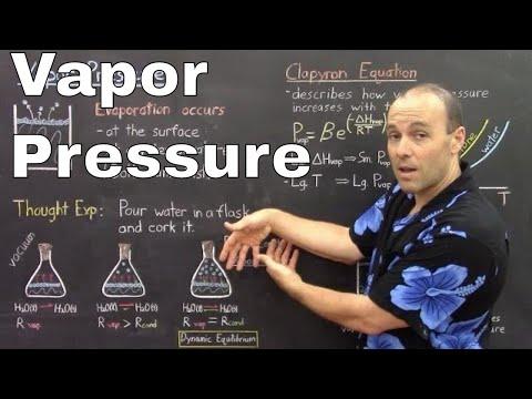 Gen Chem II - Lec 4 - Phase Changes I - Vapor Pressure