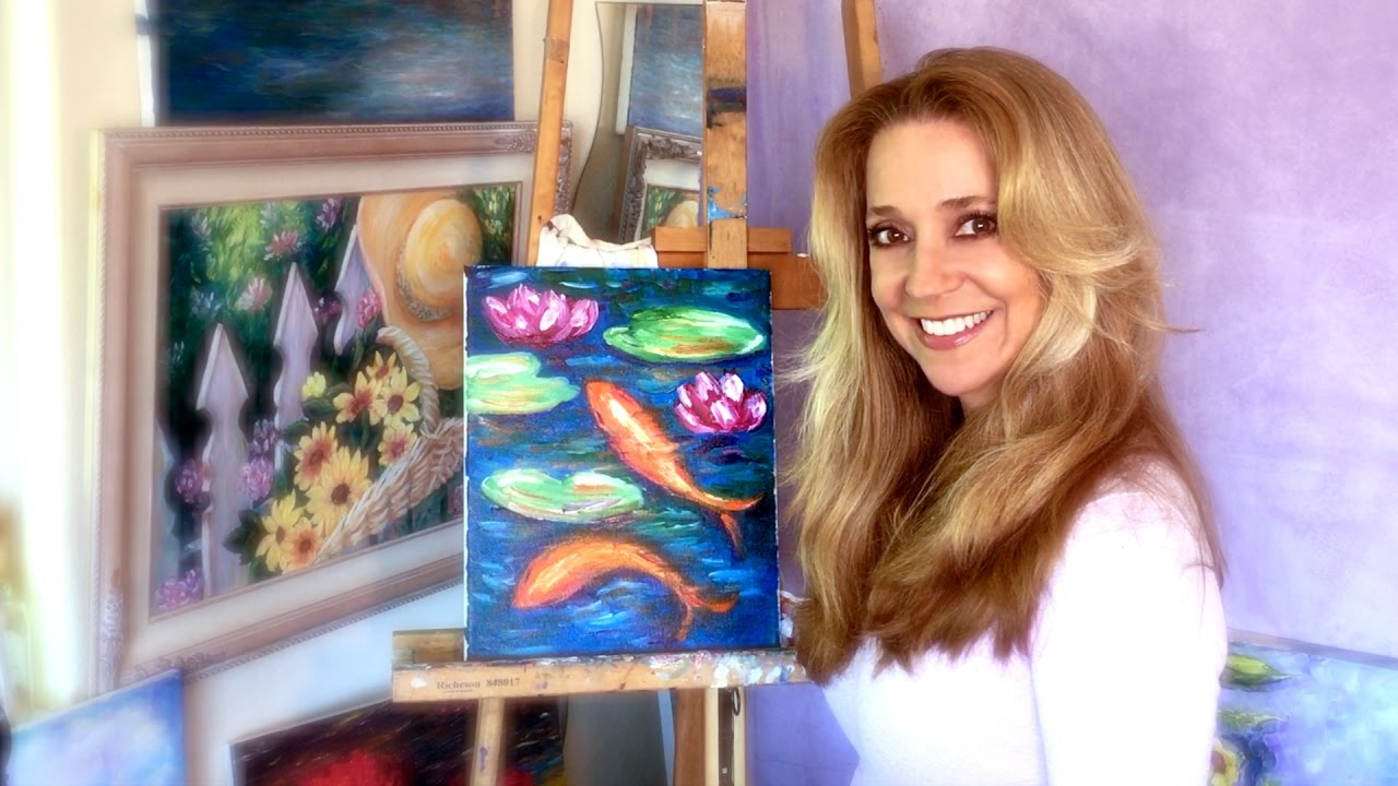 You Tube Lillies Oil Painting