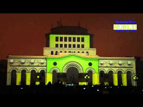 3D Christmas mapping in Yerevan by IWorld Armenia