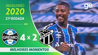 GRÊMIO 4 X 2 CEARÁ | MELHORES MOMENTOS | 21ª RODADA BRASILEIRÃO 2020 | ge.globo