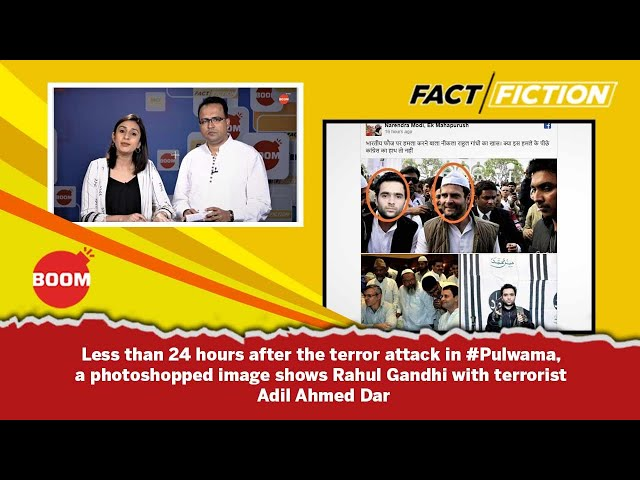 Fact Vs Fiction: Rahul Gandhi Posing With The Suicide Bomber Of The Pulwama Attack?