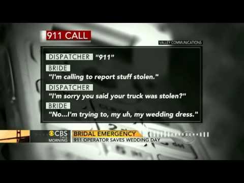 Stolen wedding dress 911 call