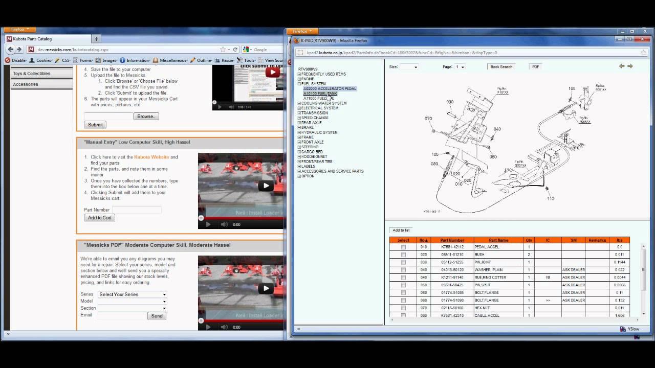 kubota parts manual entry [ 1280 x 720 Pixel ]