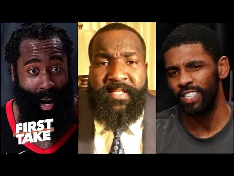 The Nets should trade Kyrie Irving to the Rockets for Harden TODAY! - Kendrick Perkins | First Take