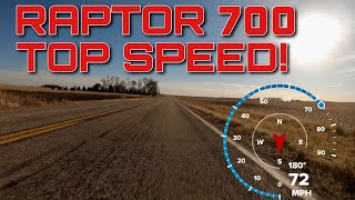 2019 Yamaha Raptor 700 Top Speed!