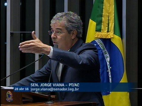 Jorge Viana dá recado a Temer: assumir o Brasil sem ter legitimidade das urnas pode agravar crise
