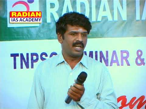 Mr. Parthasarathi Municipal Commissioner Speech about TNPSC Preparation tips at Coimbatore RADIAN