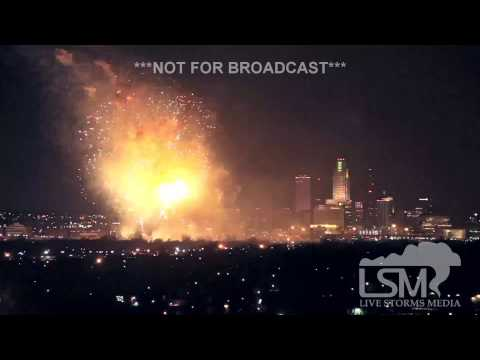 12-31-14 Omaha, Nebraska Fireworks Display
