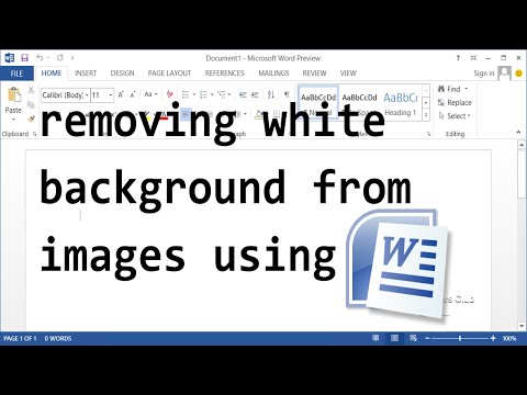 How To Remove White Background From Images - Microsoft Word from YouTube · Duration:  2 minutes 33 seconds