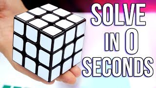 HOW TO SOLVE IT IN 0 SECONDS | Rubik's Cube Trick