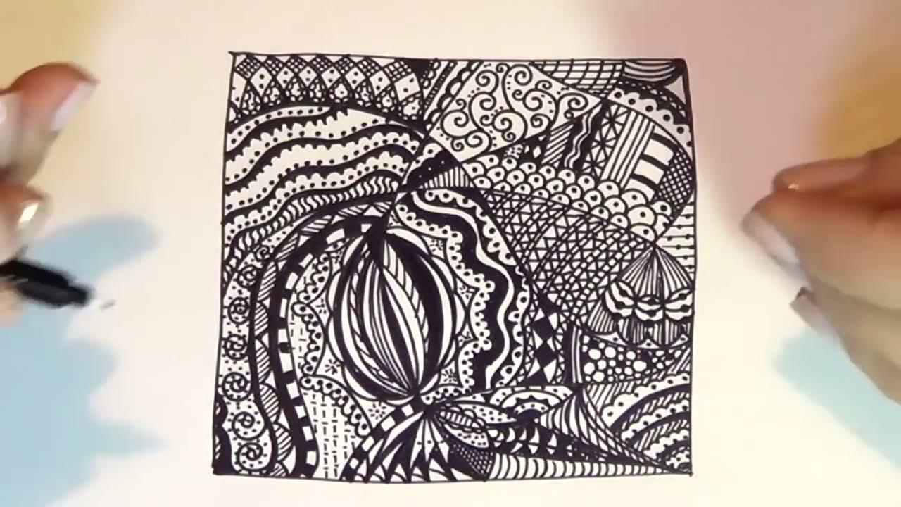 Corso Di Disegno Arte Per Te.Corso Di Disegno Lez N 3 Stile Zentangle Per Gestire La