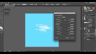Creating realistic clouds in Adobe Illustrator