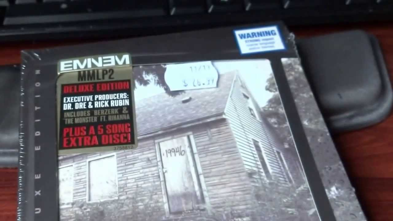 unboxing eminem the mmlp2 deluxe edition the marshall