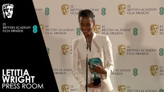 Letitia Wright | Press Room Interview | EE BAFTA Film Awards 2019