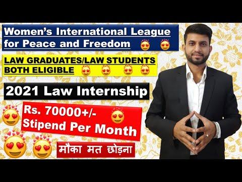 WILPF Law Internship 2021   Law Graduates/Law Students Eligible   Home Based Internship 2021