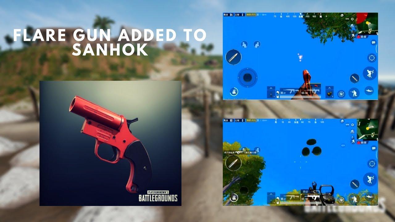 Flare Gun Spawns In Sanhok Pubg Mobile Chinese Version 0 8 6