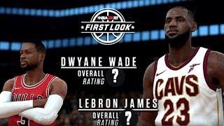 NBA 2K18 Official Lebron James and Dwyane Wade Rating and Screenshot!