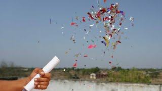How to make Birthday crackers with syringe / Syringe की मदद से Birthday crackers कैसे बनाए