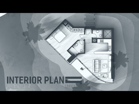 Interior Plan Monotone - Photoshop Architecture