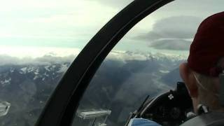 Gliding Mount Cook Southern Alps New Zealand