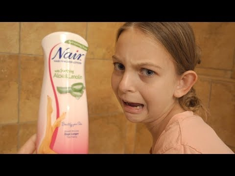 PRETEEN FIRST SHAVE | NAIR HAIR REMOVER LOTION REVIEW