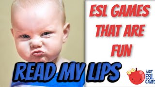 Read My Lips - A pronunciation game without any speaking - ESL Video#41