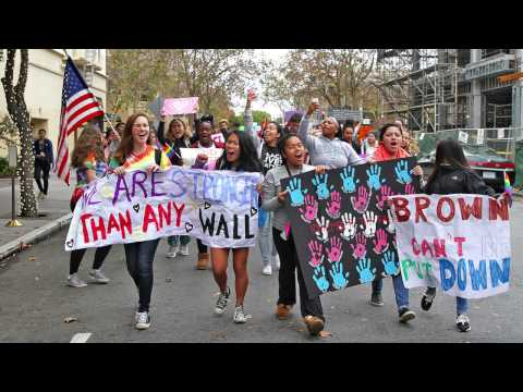 Palo Alto High School Students March For Unity and Equality