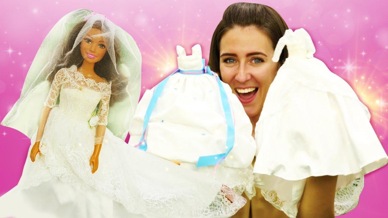 La boda de la muñeca Teresa. Vestidos y accesorios de Barbie. Vídeos para niñas