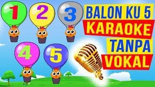 Download Mp3 Balonku Ada Lima 🎤 Lagu Anak Versi Karaoke Tanpa Vokal   Five Balloons Song Nurs
