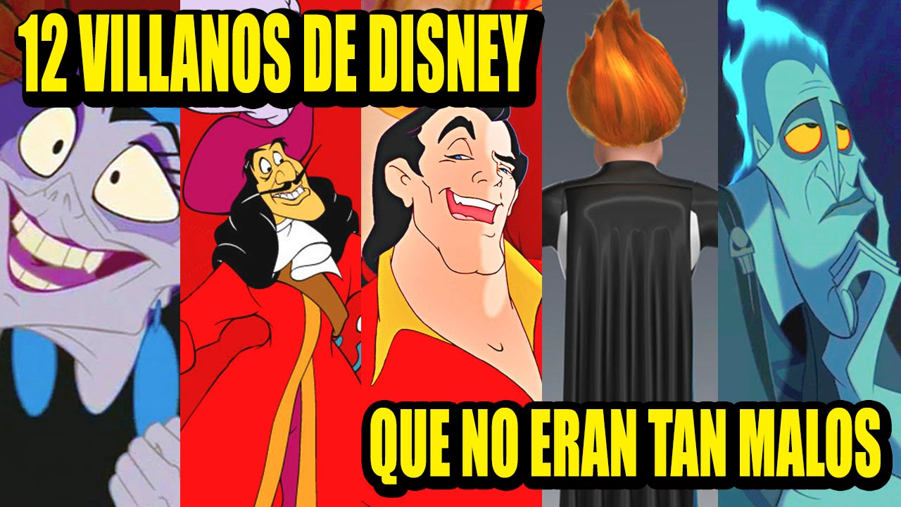 12 Villanos De Disney Que No Eran Tan Malos Los 12 Más Youtube