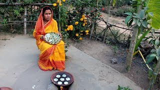 Gambar cover Traditional Sanjher Jhal Pithe Recipe in my Village | Delicious Chili Pitha