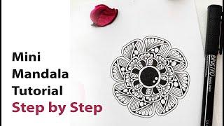 How to draw MINI MANDALA ART for beginners