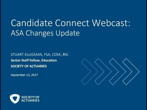 Candidate Connect Webcast: ASA Changes Update